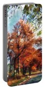 Autumn Street Perspective Portable Battery Charger