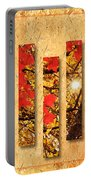 Autumn Sunrise Painterly Abstract Portable Battery Charger