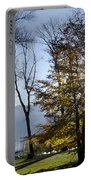 Autumn Tree In Backlight Portable Battery Charger