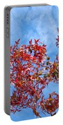 Autumn Trees Art Prints Blue Sky White Clouds Portable Battery Charger