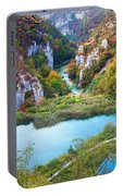 Autumn Valley Landscape Portable Battery Charger