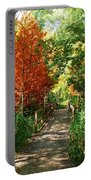 Autumn Walk Portable Battery Charger