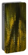 Autumn Water Reflection Abstract I Portable Battery Charger