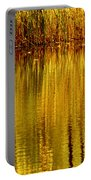 Autumn Water Reflection Abstract II Portable Battery Charger