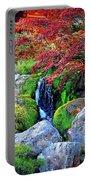 Autumn Waterfall - Digital Art Portable Battery Charger