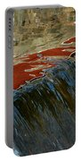 Autumn Waterfall Reflections Portable Battery Charger