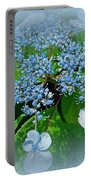 Baby Blue Lace Cap Hydrangea Portable Battery Charger