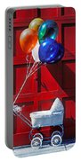 Baby Buggy With Balloons  Portable Battery Charger