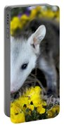 Baby Opossum In Flowers Portable Battery Charger
