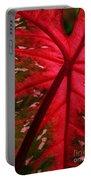 Backlit Red Leaf Portable Battery Charger