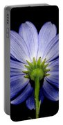 Backside Of A Blue Flower Portable Battery Charger
