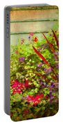 Backyard Flower Garden Portable Battery Charger