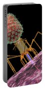 Bacteriophage T4 Injecting Portable Battery Charger by Russell Kightley
