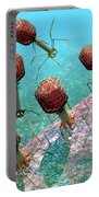 Bacteriophage T4 Virus Group 1 Portable Battery Charger by Russell Kightley