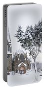 Ballater Church In Snow Portable Battery Charger