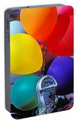 Balloons Tied To Parking Meter Portable Battery Charger