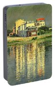 Banks Of The Seine At Argenteuil Portable Battery Charger