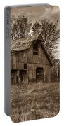 Barn In Turbulent Sky Portable Battery Charger