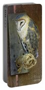 Barn Owl At Roost Portable Battery Charger