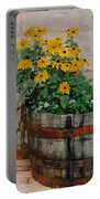 Barrel Of Flowers Portable Battery Charger