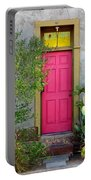 Barrio Door Pink And Gray Portable Battery Charger
