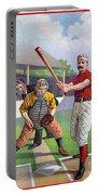 Baseball Game, C1895 Portable Battery Charger