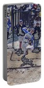 Baseball Pitcher Warming Up Digital Art Portable Battery Charger