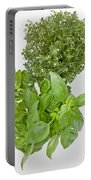 Basil And Thyme Portable Battery Charger by Joana Kruse