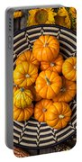Basket Full Of Small Pumpkins Portable Battery Charger