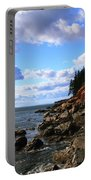 Bass Harbor Head Seascape Portable Battery Charger
