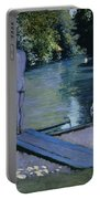 Bather About To Plunge Into The River Yerres Portable Battery Charger