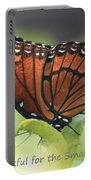 Be Thankful Portable Battery Charger by Carol Groenen