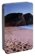 Beach At Evening Portable Battery Charger