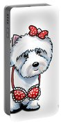 Beach Babe Westie Portable Battery Charger