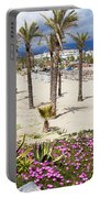 Beach In Puerto Banus Portable Battery Charger