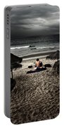 Beach Minstrel Portable Battery Charger by Carlos Caetano