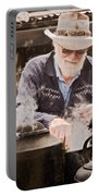 Bearded Miner Making Billy Tea Portable Battery Charger