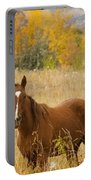 Beautiful Chestnut Horse Portable Battery Charger