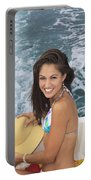 Beautiful Girl Boating Portable Battery Charger