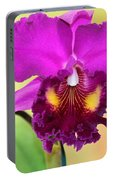 Beautiful Hot Pink Orchid Portable Battery Charger