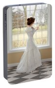 Beautiful Lady By Window Portable Battery Charger
