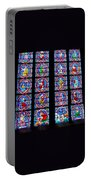 Beautiful Stained Glass At Notre Dame Cathedral Portable Battery Charger