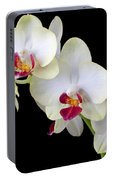 Beautiful White Orchids Portable Battery Charger