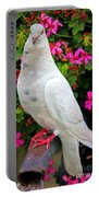 Beautiful White Pigeon Portable Battery Charger