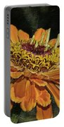 Beauty In Orange Petals Portable Battery Charger
