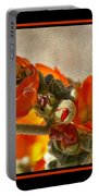Bee On Red Flower 4 Portable Battery Charger