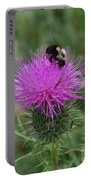 Bee On Thistle Portable Battery Charger