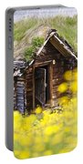 Behind Yellow Flowers Portable Battery Charger by Heiko Koehrer-Wagner