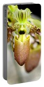 Beige Lady Slipper Orchids Portable Battery Charger