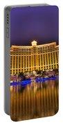 Belagio Las Vegas Portable Battery Charger by Nicholas  Grunas